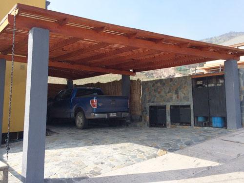 4alse p rgolas terrazas estructuras de madera for Cobertizos prefabricados