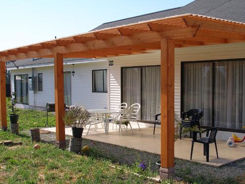 4alse p rgolas terrazas estructuras de madera for Disenos de terrazas de madera